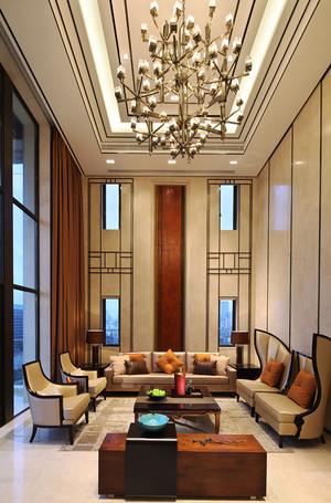 378平米新中式风格大气奢华别墅室内装修效果图