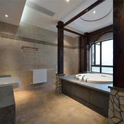 中式风格别墅室内古朴精致卫生间装修实景图赏析