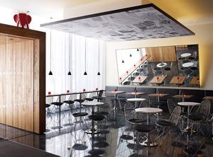 后现代风格咖啡厅吧台设计装修效果图