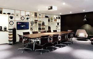 现代简约风格多功能会议室装修效果图