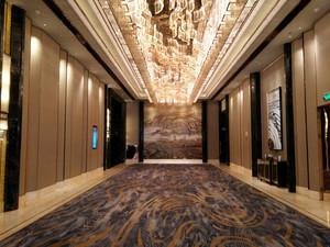 中式风格精致奢华五星级酒店过道设计装修效果图