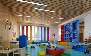 现代简约风格幼儿园教室环境布置装修效果图赏析