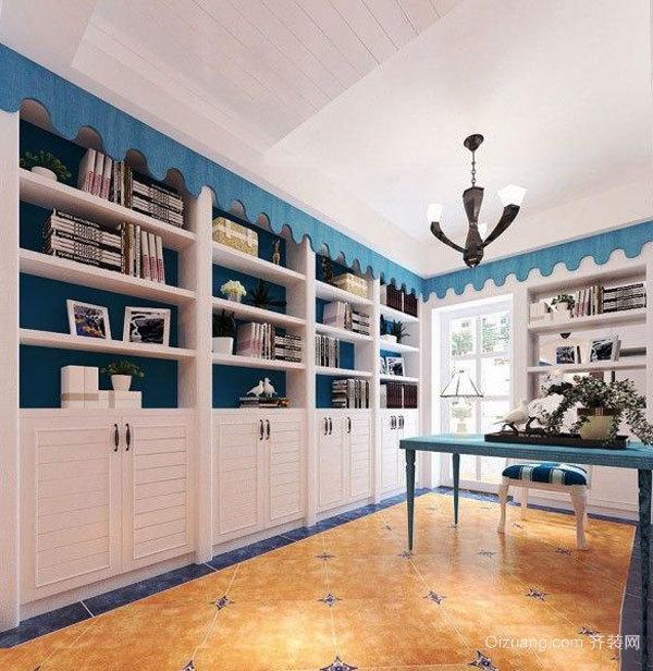 地中海风格精致书房设计装修效果图赏析