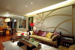 141平米东南亚风格精致大户型室内装修效果图案例