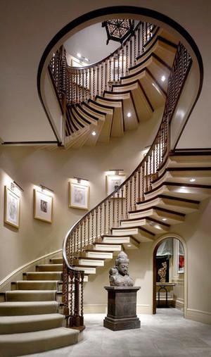 东南亚风格别墅旋转楼梯设计装修效果图赏析