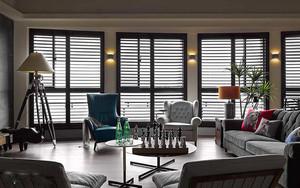 129平米美式风格时尚三室两厅室内装修效果图案例