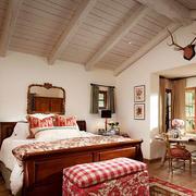 美式田园风格别墅室内温馨卧室装修效果图赏析