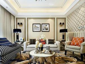 138平米欧式风格精致三室两厅室内装修效果图赏析