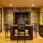新古典主义风格大户型餐厅酒柜设计装修效果图