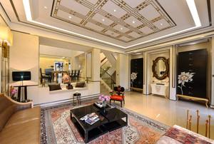 257平米新中式风格精装别墅室内装修效果图案例