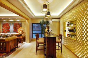 中式风格典雅大户型餐厅吧台设计装修效果图赏析