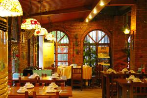 100平米混搭风格中餐厅设计装修效果图