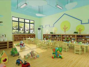 80平米现代简约风格幼儿园教室装修效果图