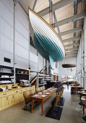 后现代风格创意咖啡厅吊顶设计装修效果图