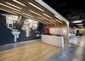 现代风格时尚创意办公室前台设计装修效果图