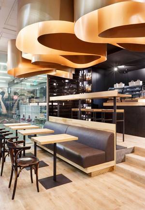 90平米后现代风格咖啡厅吧台设计装修效果图