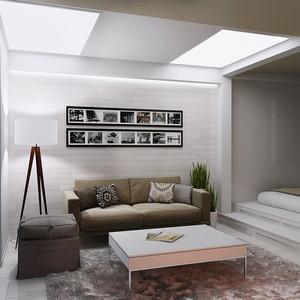 58平米现代简约风格灰色系单身公寓装修效果图