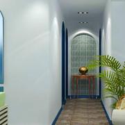 地中海风格精美室内过道设计装修效果图