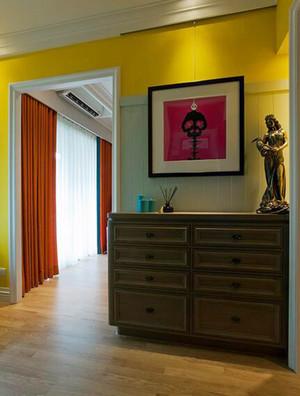 74平米美式混搭风格一居室装修效果图案例