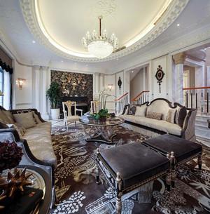 欧式风格奢华大气别墅室内装修效果图案例