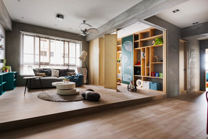 100平米清新文艺风格室内装修效果图赏析