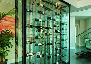 现代简约风格创意玻璃酒柜设计装修效果图赏析