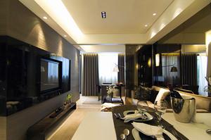 86平米新中式风格精致雅居单身公寓装修效果图案例