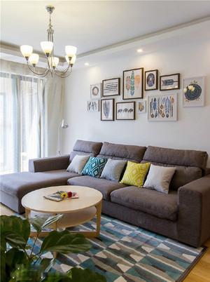 73平米宜家风格简约两室两厅室内装修实景图欣赏