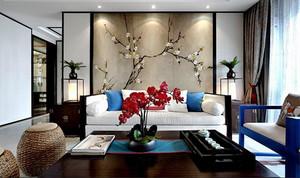 90平米中式风格古朴雅韵室内装修效果图案例