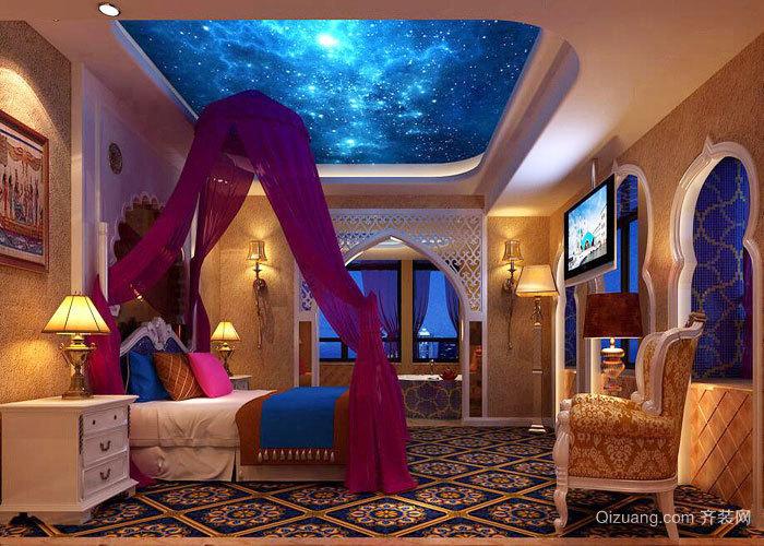 欧式风格主题酒店客房设计装修效果图