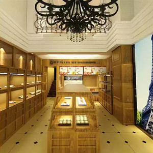 80平米欧式风格精致面包店设计装修效果图
