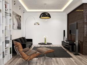 61平米现代简约风格单身公寓装修效果图赏析