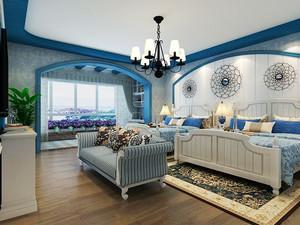 地中海风格大户型精致卧室装修效果图欣赏