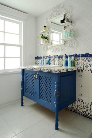 地中海风格精致卫生间浴室柜装修效果图赏析
