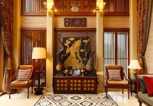 320平米东南亚风格别墅室内装修效果图案例