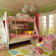 12平米现代简约风格双层床儿童房装修效果图