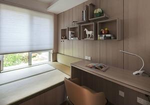 日式风格简约书房榻榻米装修效果图