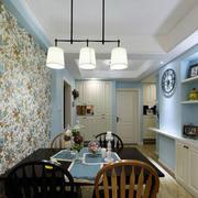 田园风格清新餐厅背景墙装修效果图赏析