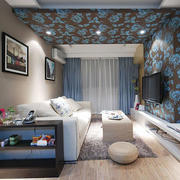 现代风格两居室精致客厅装修效果图赏析