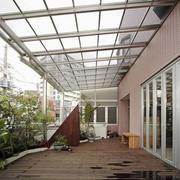 现代风格大户型精致阳台花园设计装修效果图赏析