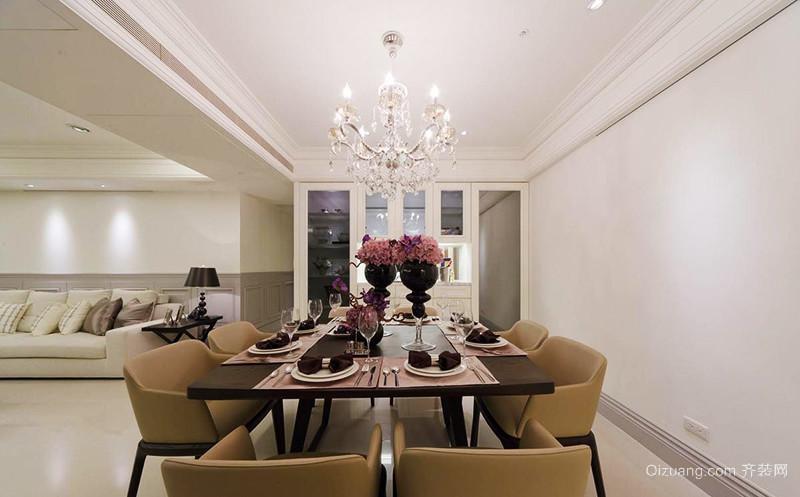 120平米新古典主义风格室内装修效果图鉴赏
