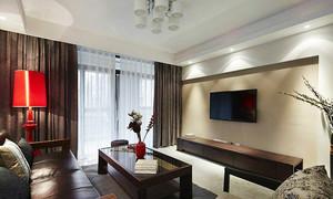96平米中式风格古典两室两厅装修效果图案例