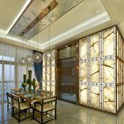 中式风格个性创意餐厅吊顶设计装修效果图