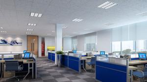 100平米现代风格小型办公室装修效果图鉴赏