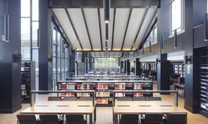 300平米现代风格大型书店设计装修效果图赏析