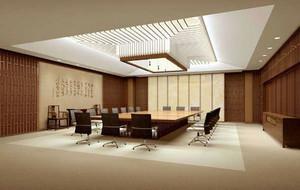 80平米中式风格会议室装修效果图赏析