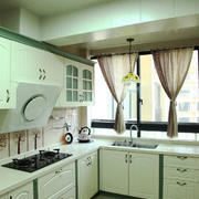 清新风格清爽厨房装修效果图赏析
