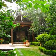 东南亚风格简约别墅花园设计装修效果图赏析