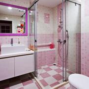 简约风格粉色卫生间装修效果图赏析