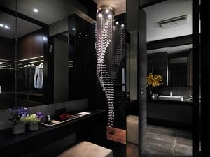 120平米后现代风格黑色系室内装修效果图案例